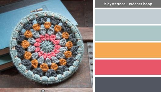 Art Inspired Palette: Islays Terrace-Circle Crochet Hoop