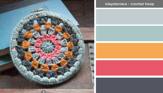 Art Inspired Palette: Islays Terrace-Circle Crochet Hoop