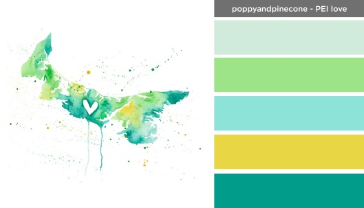 Art Inspired Palette: Poppy and Pinecone-Prince Edward Island Love