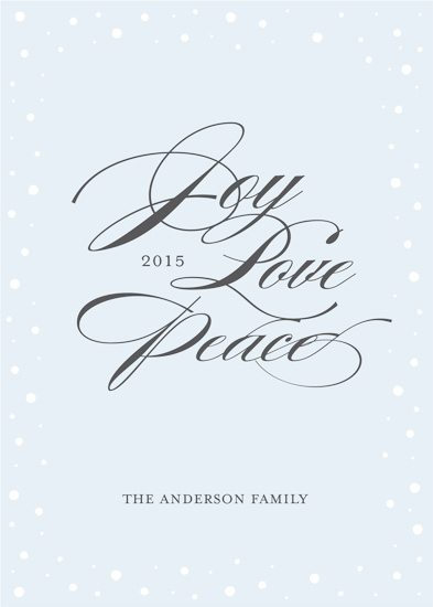 Minted Holiday Challenge: Part 2 - Joy, Love, Peace