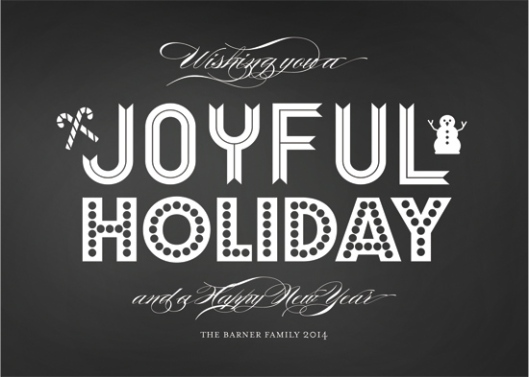 Minted Holiday Challenge: Part 2 - Joyful Holiday