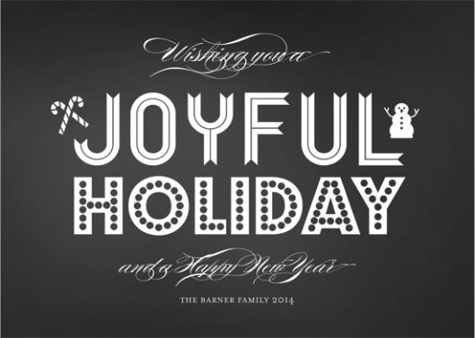 Minted Holiday Challenge: Part 2 - Joyful Holiday