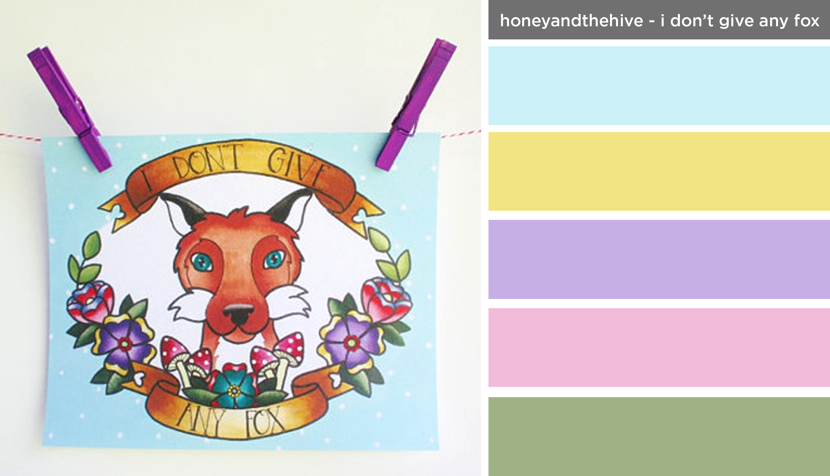 Art Inspired Palette: Honey and the Hive-I Don't Give Any Fox