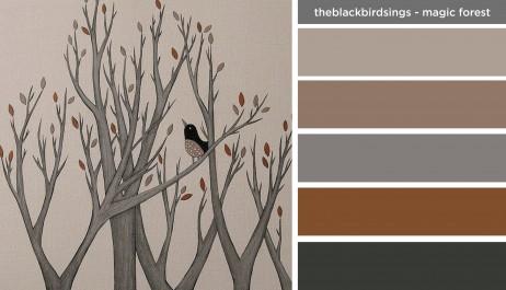 Art Inspired Palette: The Black Bird Sings-The Magic Forest