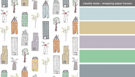 Art Inspired Palette: Claudia Reese-Wrapping Paper, Houses