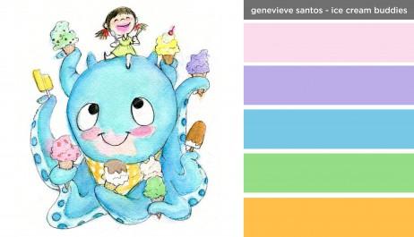Art Inspired Palette: Genevieve Santos-Ice Cream Buddies
