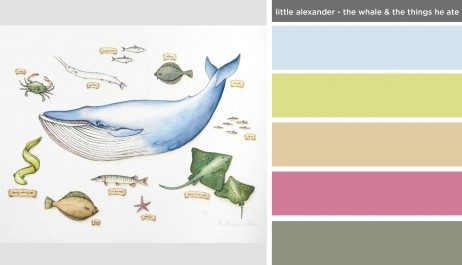 Art Inspired Palette: Little Alexander-The Whale and the Things He Ate