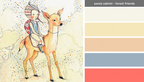 Art Inspired Palette: Paola Zakimi-Forest Friends
