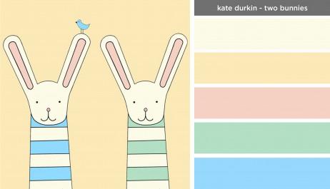 Art Inspired Palette: Kate Durkin-Two Bunnies