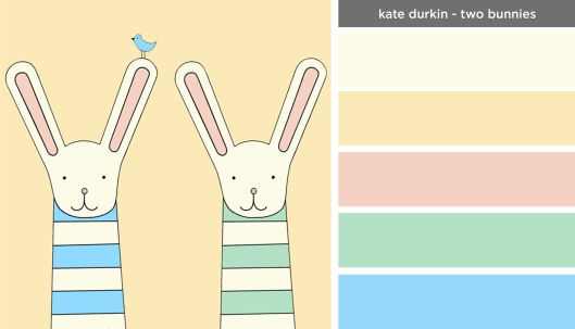 Art Inspired Palette: Kate Durkin-Two Bunnies