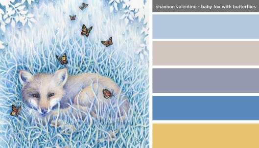 Art Inspired Palette: Shannon Valentine - Baby Fox with Butterflies