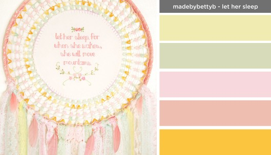 Art Inspired Palette: Made by Betty B - Let Her Sleep