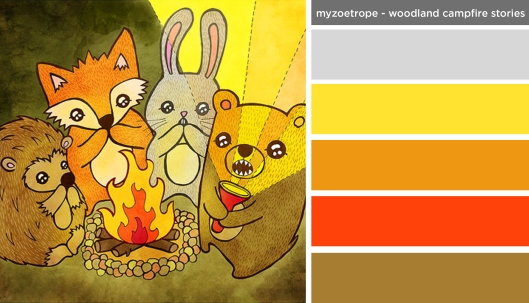 Art Inspired Palette: MyZoetrope-Woodland Campfire Stories