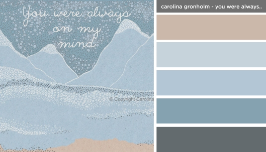 Art Inspired Palette: Carolina Gronholm-You Were Always on My Mind