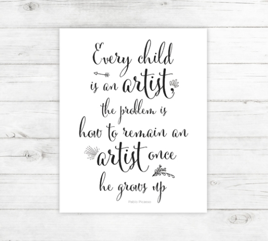New Typography Print Collection: Every-Child-is-an-Artist