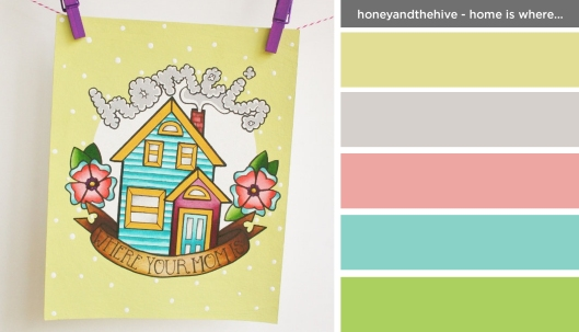 Art Inspired Palette: Honey and the Hive-Home is Where Your Mom is