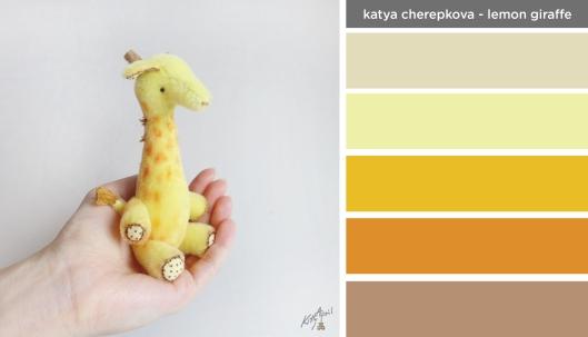 Art Inspired Palette: Katya Cherepkova-Lemon Giraffe