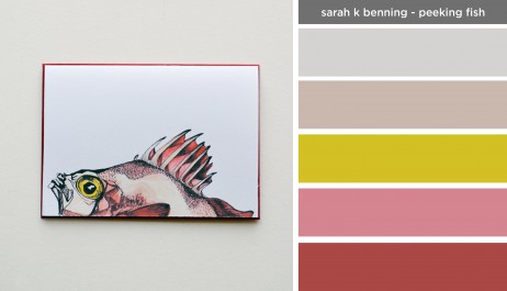 Art Inspired Palette: Sarah K Benning-Peeking Fish