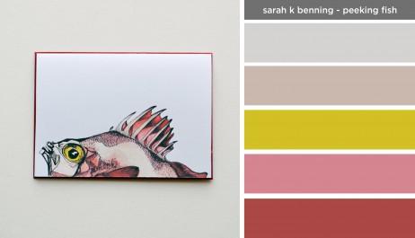 Art Inspired Palette: Sarah K Benning-Peeking Fish