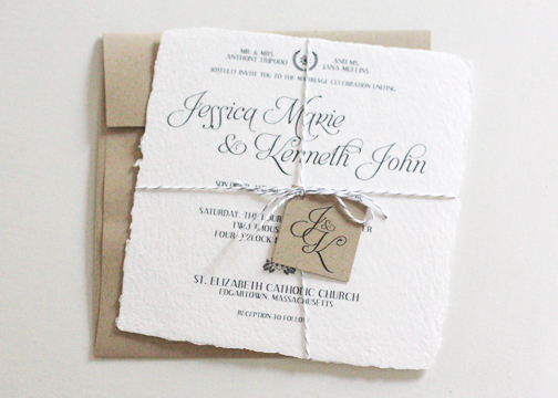 Jessica + Ken Tie the Knot - Wedding Invitations by Gray Star Design