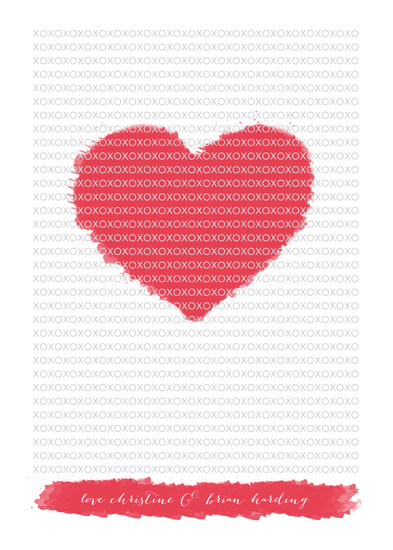 Minted Valentine's Challenge 2014 - Color My XO