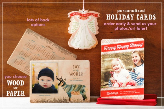Night Owl Paper Goods Personalized Holiday Card Collection