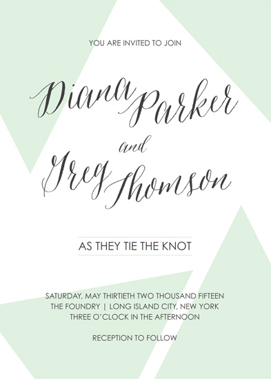 Love Triangle - To Have & To Hold Minted Wedding Invitation Challenge
