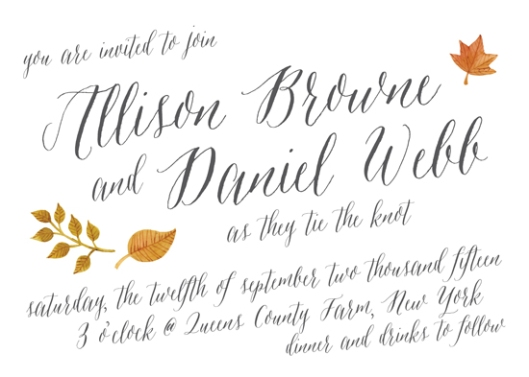 Autumn Whimsy - To Have & To Hold Minted Wedding Invitation Challenge