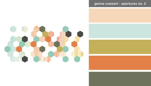 Art Inspired Palette: Genna Cowswert - Apertures No. 2