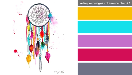 Art Inspired Palette: Kelsey M Designs - Dream Catcher #3