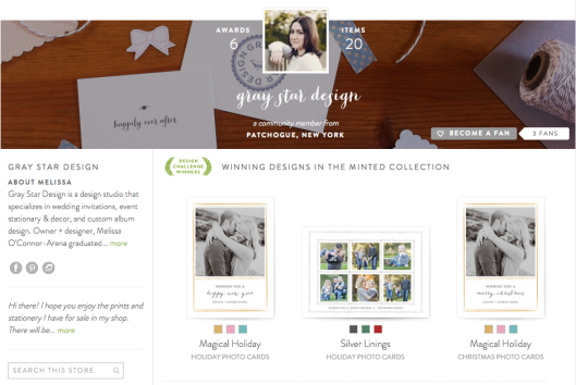 Gray Star Design on Minted