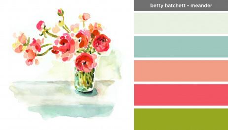 Art Inspired Palette: Betty Hatchett-Meander