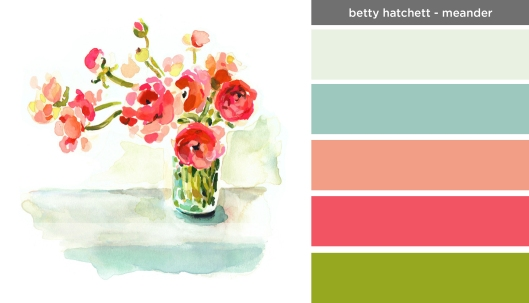 Art Inspired Palette: Betty Hatchett-Meander