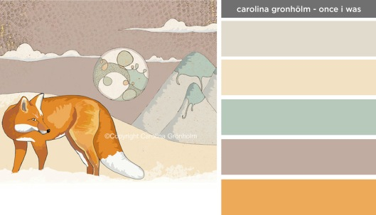 Art Inspired Palette: Carolina Gronholm-Once I Was