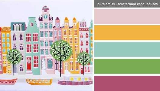 Art Inspired Palette: Laura Amiss-Amsterdam Canal Houses