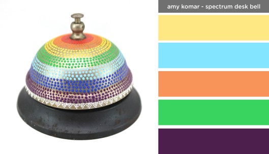 Art Inspired Palette: Amy Komar-Spectrum Desk Bell