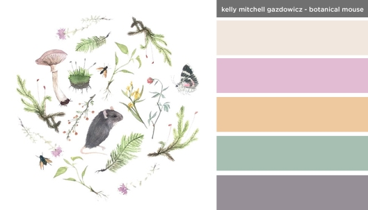 Art Inspired Palette: Kelly Mitchell Gazdowicz-Botanical Mouse