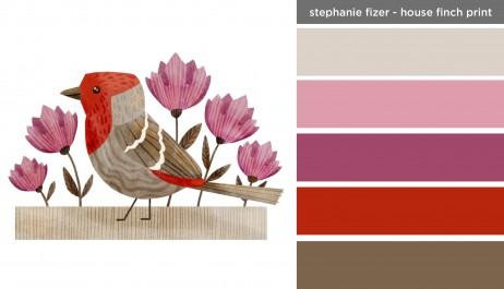 Art Inspired Palette: Stephanie Fizer - House Finch Print