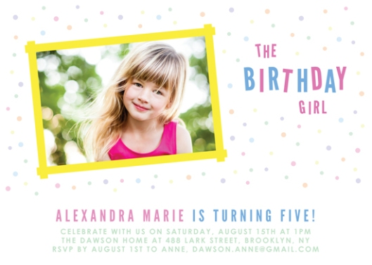 Minted Quickfire Children's Birthday Invitation Challenge