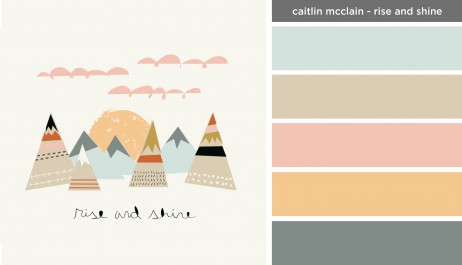 New Art Inspired Palette: Caitlin McClain-Rise and Shine