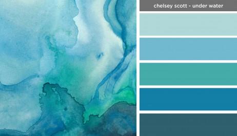 Art Inspired Palette: Chelsey Scott-Under Water