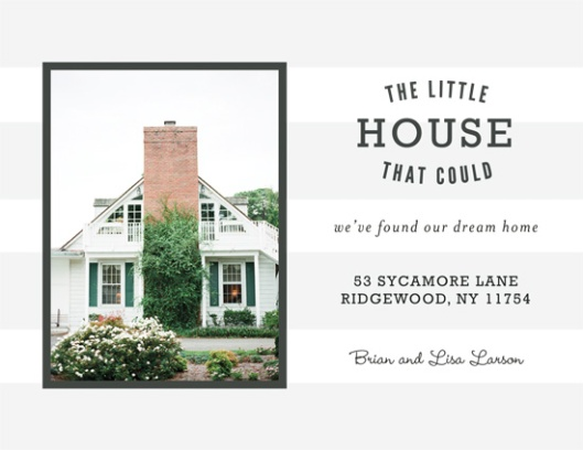 Minted We've Moved Challenge - The Little House that Could