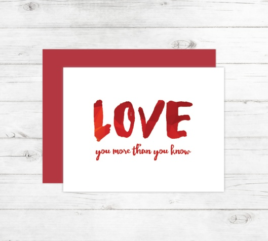 New Cards Up in the Shop - Love You More Than You Know