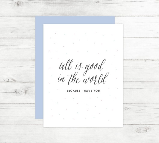 New Cards Up in the Shop - All is Good in the World
