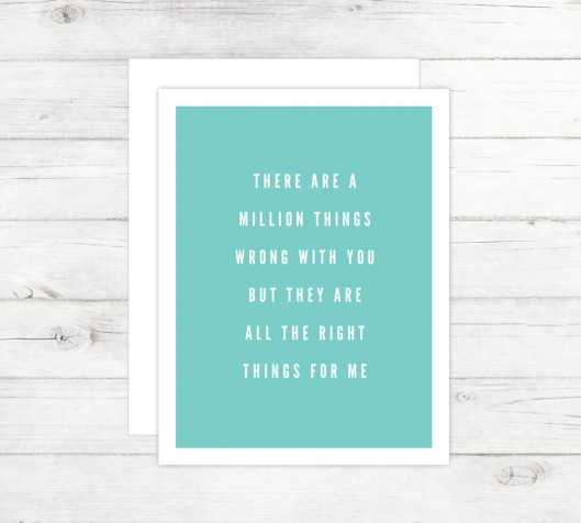 New Cards Up in the Shop - All the Right Things Card