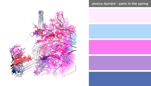 Art Inspired Palette: Jessica Durrant-Paris in the Spring