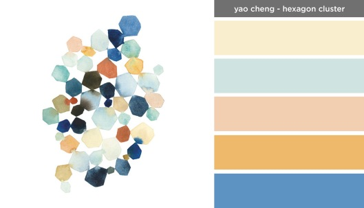 Art Inspired Palette: Yao Cheng-Hexagon Cluster