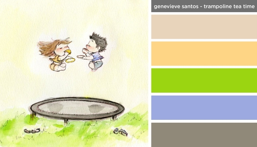 New Art Inspired Palette: Genevieve Santos-Trampoline Tea Time