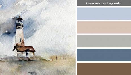 Art Inspired Palette: Karen Kaul-Solitary Watch