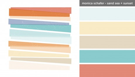 Art Inspired Palette: Monica Schafer-Sand Sea + Sunset